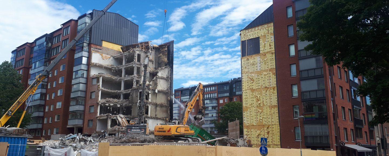 Purettava asuinrakennus